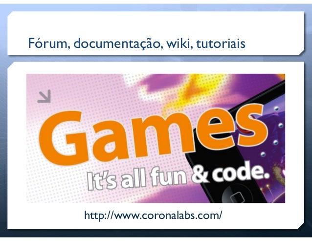 Desenvolvimento de jogos com Corona SDK