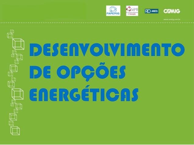 DESENVOLVIMENTO DE OPÇÕES ENERGÉTICAS