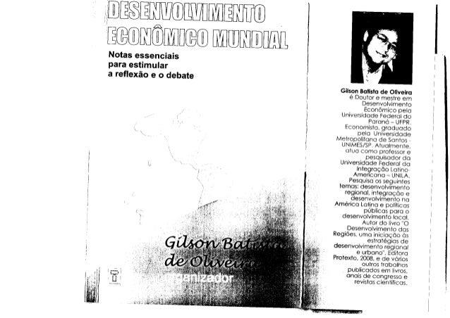t t ' ï lDES TWIMENTO EGONOMNEOMUNDIATNotasessenciais paraestimular areflexãoeodebate ì . GilsonBolistode Oliveiro é Douto...