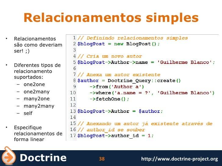 Relacionamentos simples <ul><li>Relacionamentos são como deveriam ser! ;) </li></ul><ul><li>Diferentes tipos de relacionam...