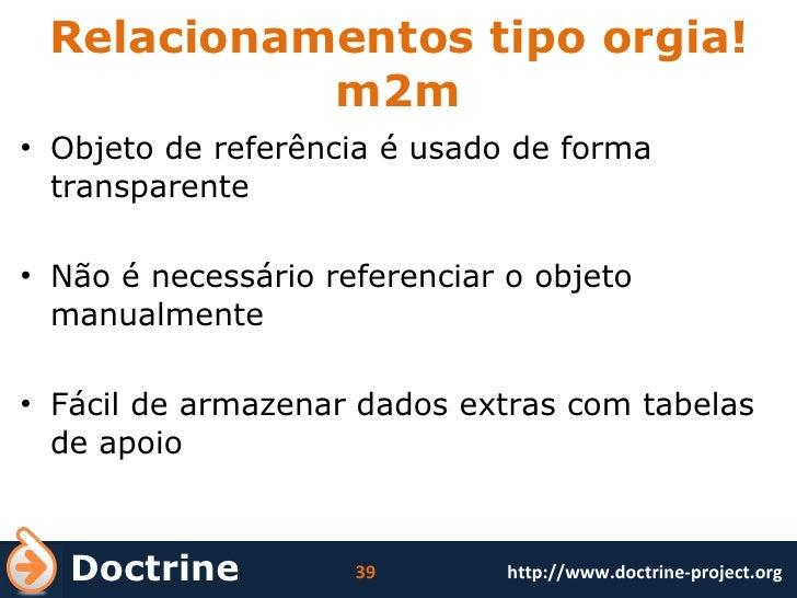 Relacionamentos tipo orgia! m2m <ul><li>Objeto de referência é usado de forma transparente </li></ul><ul><li>Não é necessá...