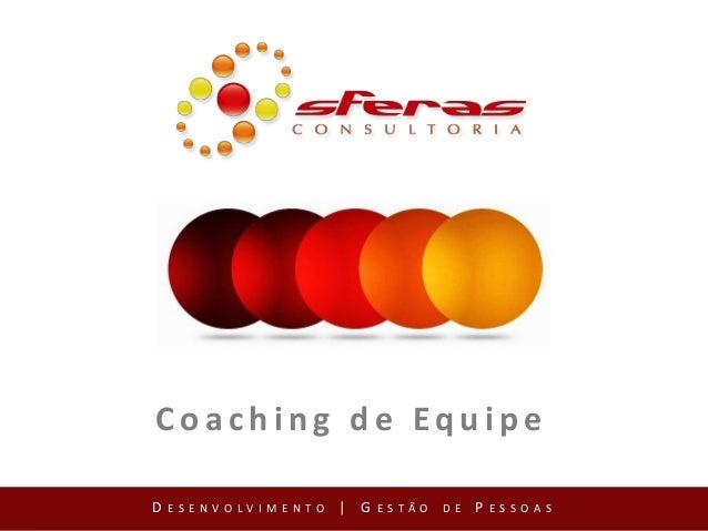 Coaching de Equipe D ESENVOLVIMENTO | G ESTÃO DE P ESSOAS