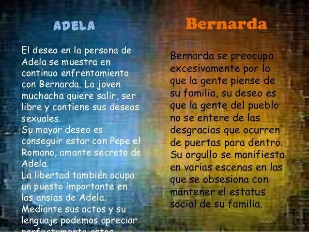 Angustias El deseo de la hija mayor de Bernarda es, al igual que el de todas las hijas, salir del hogar y casarse. Ella, a...