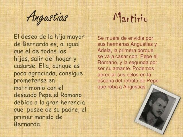 Magdalena y Amelia  La Poncia y La Criada  Ambas hermanas Las dos criadas de Bernarda quieren también comparten los obtene...