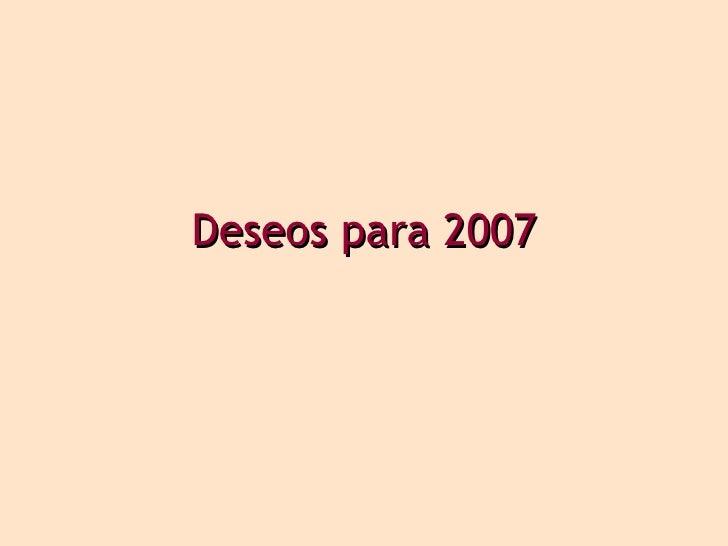 Deseos para 2007