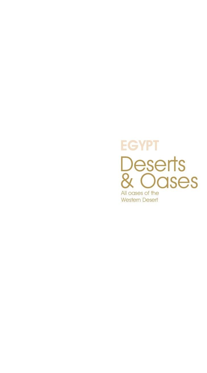 EGYPTDeserts& OasesAll oases of theWestern Desert
