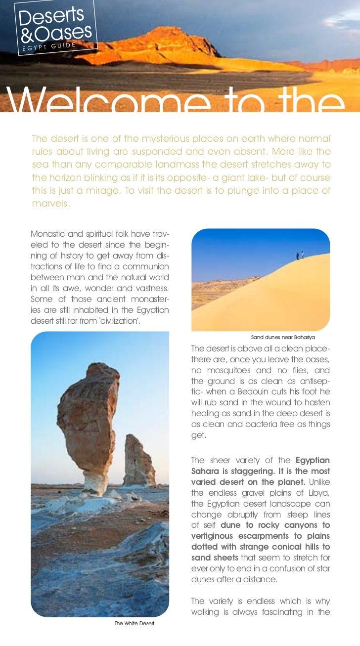 desert and oasis brochure