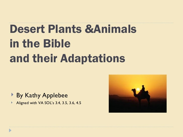 Desert animals from the bible