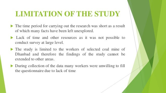 scope and limitation of stress Sample report a formal report   scope of the study  the effects of stress on business employees and programs offered by employers.