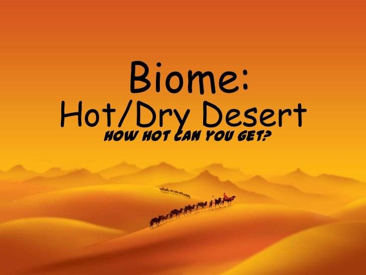 hot dry desert biome