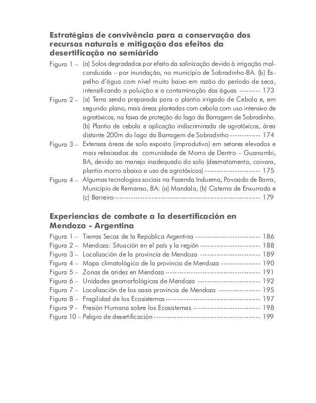 Lista de quadros Estratégias de convivência para a conservação dos recursos naturais e mitigação dos efeitos da desertific...