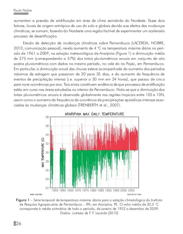 30 Paulo Nobre • Estudos de impactos e adaptação para sistemas e setores relevantes: agricultura e silvicultura, recursos ...