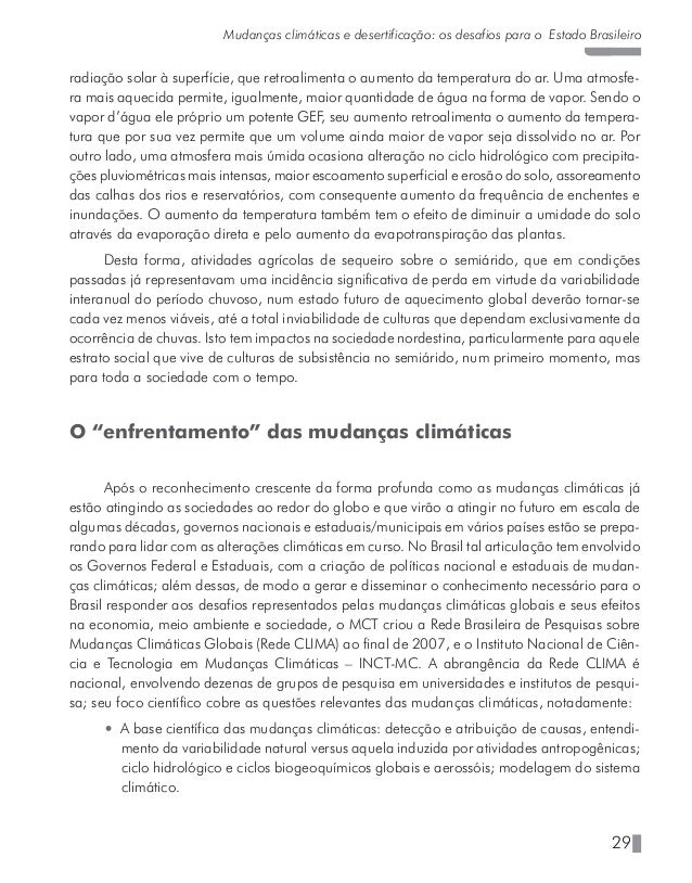 33 Mudanças climáticas e desertificação: os desafios para o Estado Brasileiro comunidade acadêmica de qualidade equiparáve...