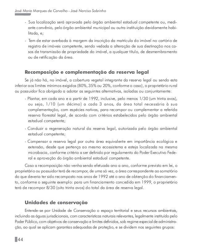 49 Salvaguardas ambientais nos financiamentos do Banco do Nordeste no semiárido em que são estabelecidos os direitos, obri...