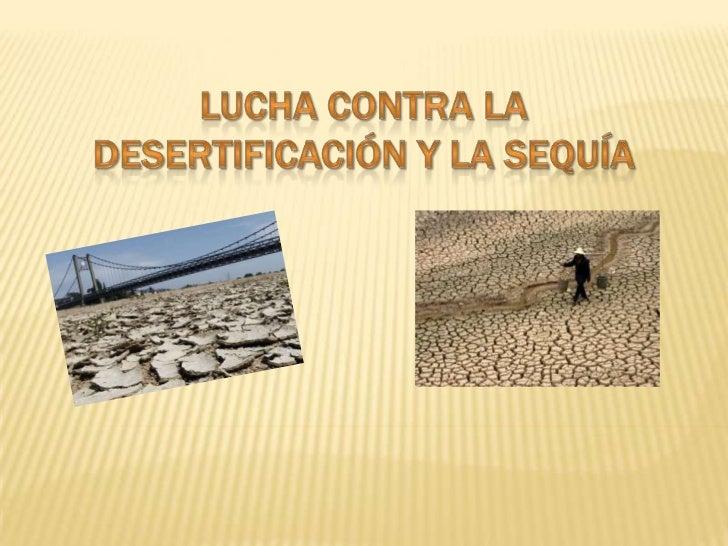Los principales objetivos son: Luchar contra la desertificación y atenuar los  efectos de la sequía. Mejorar la producti...