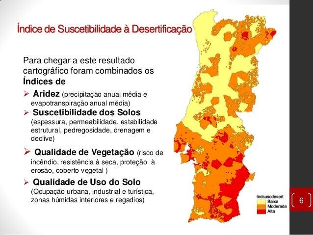 mapa de solos de portugal Desertificação em Portugal Continental mapa de solos de portugal