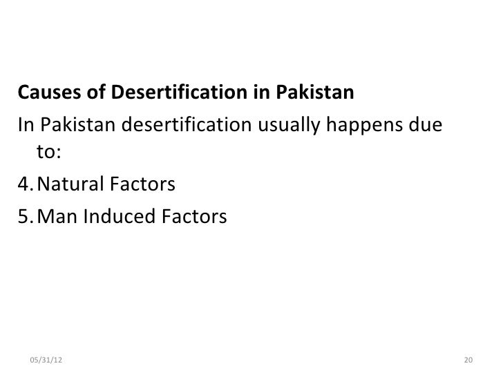 Two main causes of desertification
