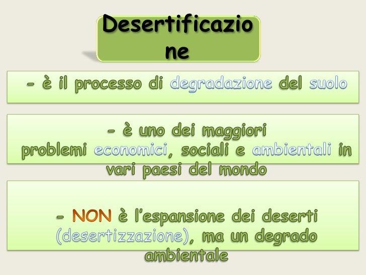 Desertificazio     ne