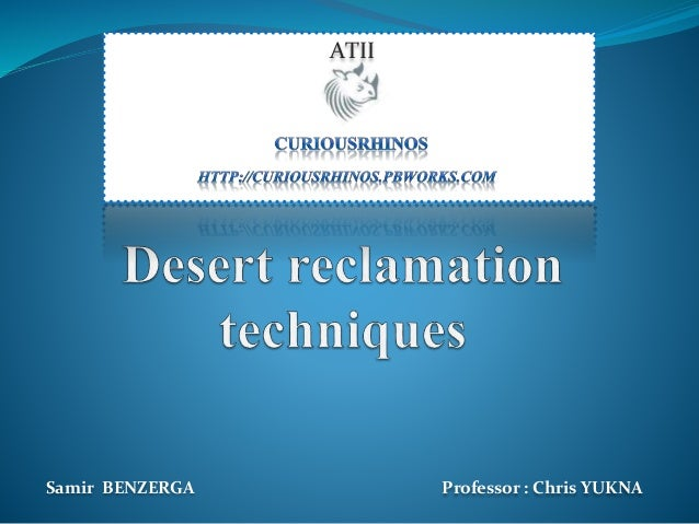 Samir BENZERGA Professor : Chris YUKNA ATII