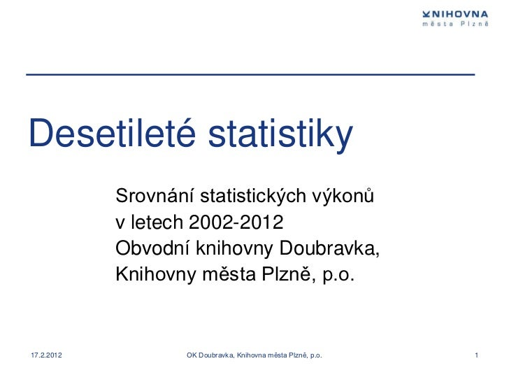 Desetileté statistiky