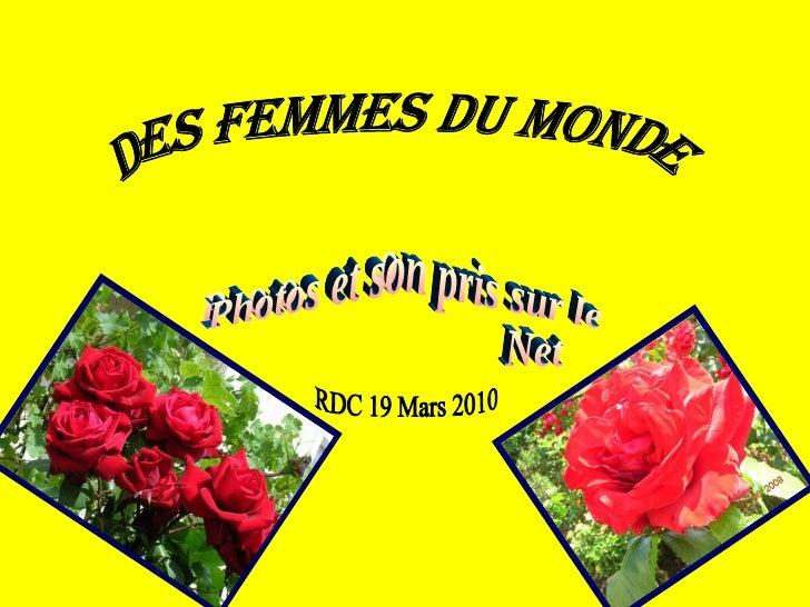 Des Femmes du monde Photos et son pris sur le  Net RDC 19 Mars 2010