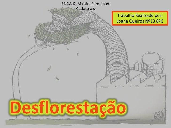 EB 2,3 D. Martim Fernandes               C. Naturais                                   Trabalho Realizado por:            ...
