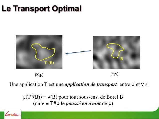 Le Transport Optimal Reconstruction de primordial Les données