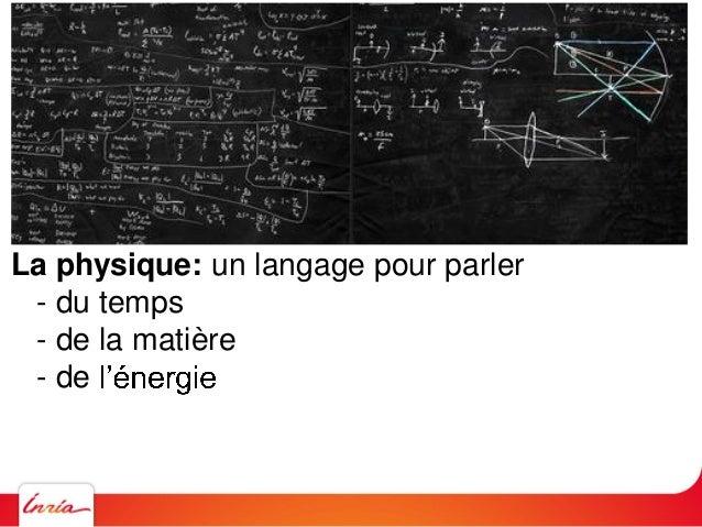 La physique: un langage pour parler - du temps - de la matière - de - de la lumière -