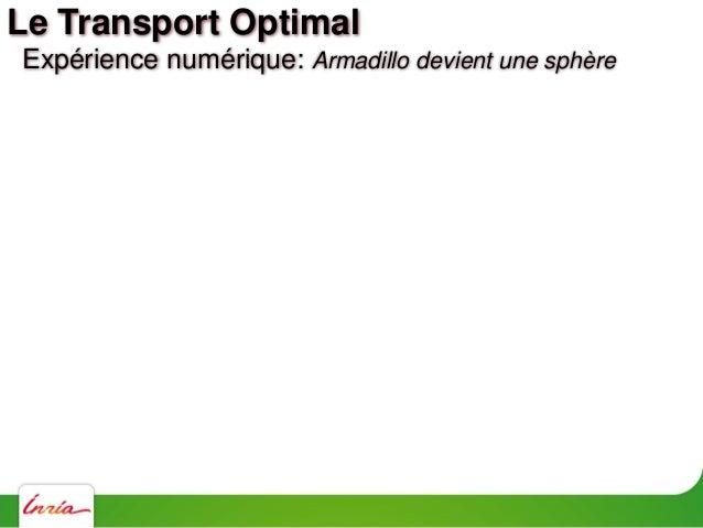 Expérience numérique: densité variable Le Transport Optimal