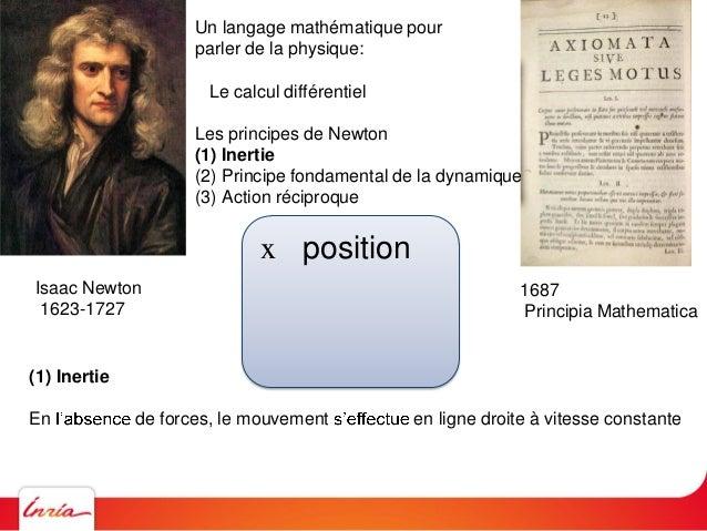 Isaac Newton 1623-1727 1687 Principia Mathematica Un langage mathématique pour parler de la physique: Le calcul différenti...