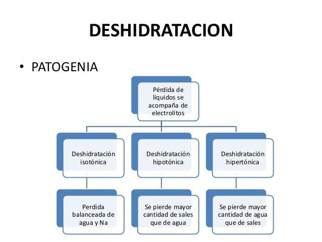 DESHIDRATACION• PATOGENIA                          Pérdida de                          líquidos se                        ...