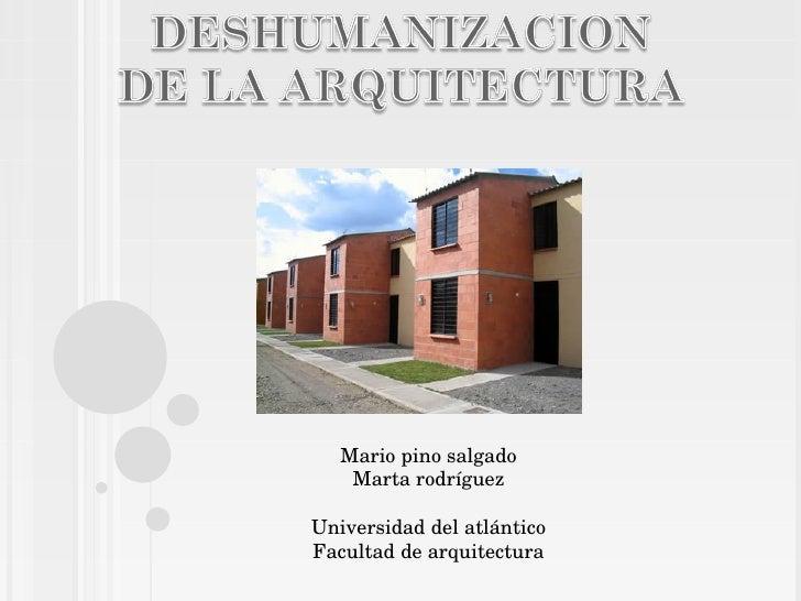 Mario pino salgado Marta rodríguez Universidad del atlántico Facultad de arquitectura