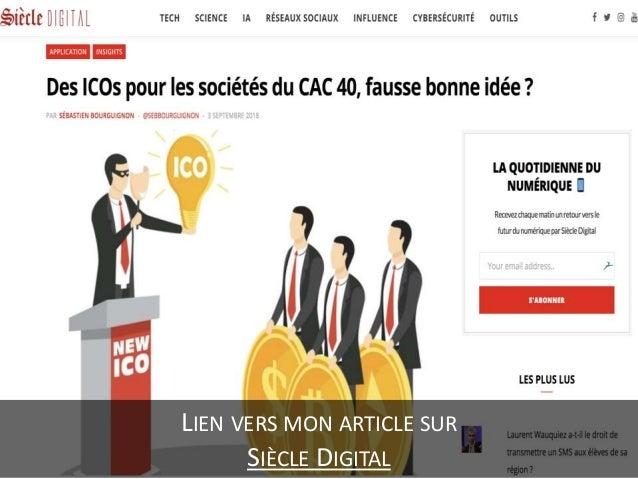 Des ICOs pour les sociétés du CAC 40, fausse bonne idée ? Slide 3