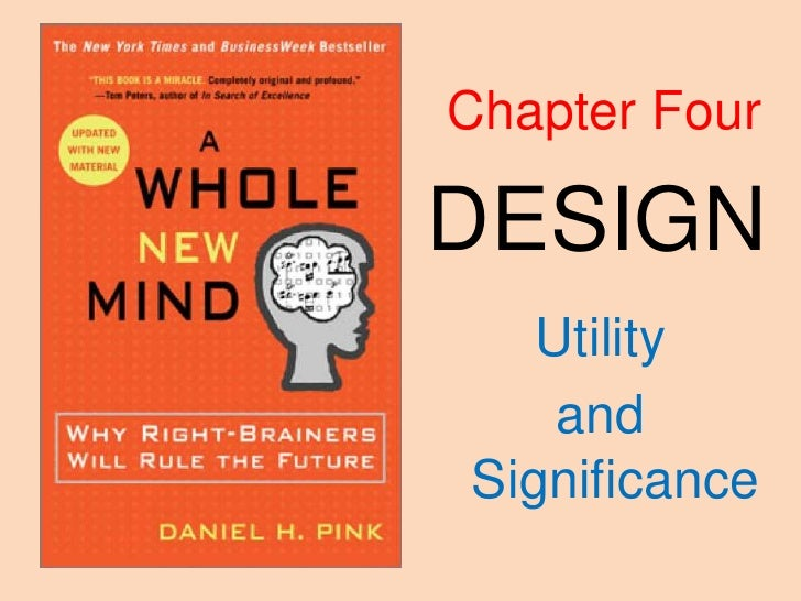 Chapter Four<br />DESIGN<br />Utility<br />and Significance<br />
