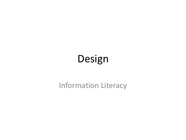 DesignInformation Literacy