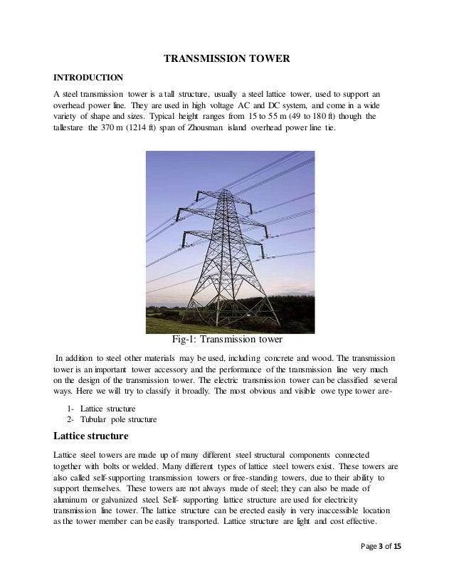 transmission tower foundation design pdf