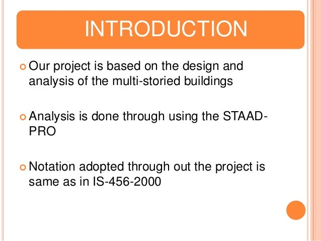 Design And Analaysis Of Multi Storey Building Using Staad Pro