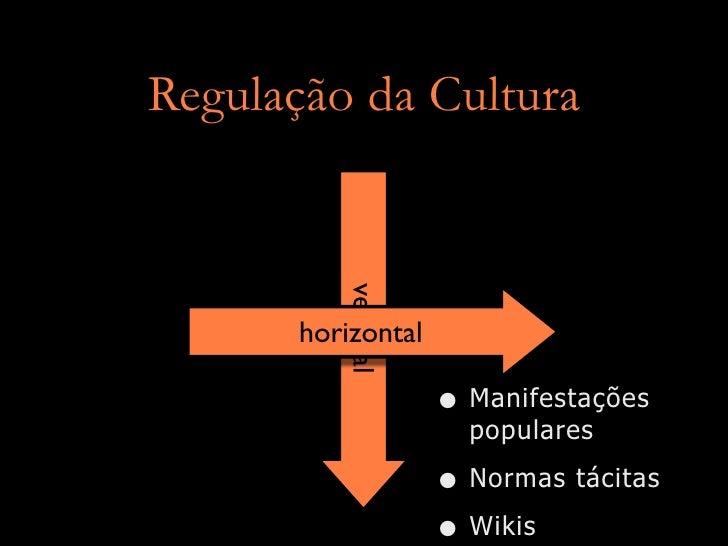 Regulação da Cultura             vertical       horizontal                      • Manifestações                       popu...