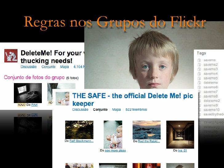 Regras nos Grupos do Flickr