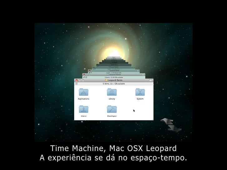 Time Machine, Mac OSX Leopard A experiência se dá no espaço-tempo.