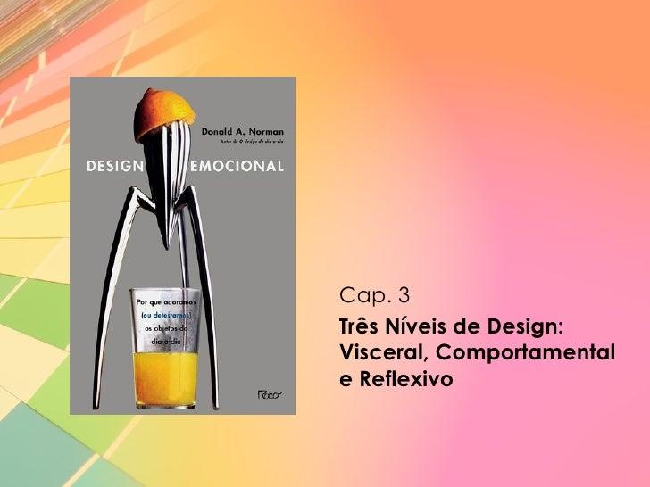 Cap. 3Três Níveis de Design:Visceral, Comportamentale Reflexivo
