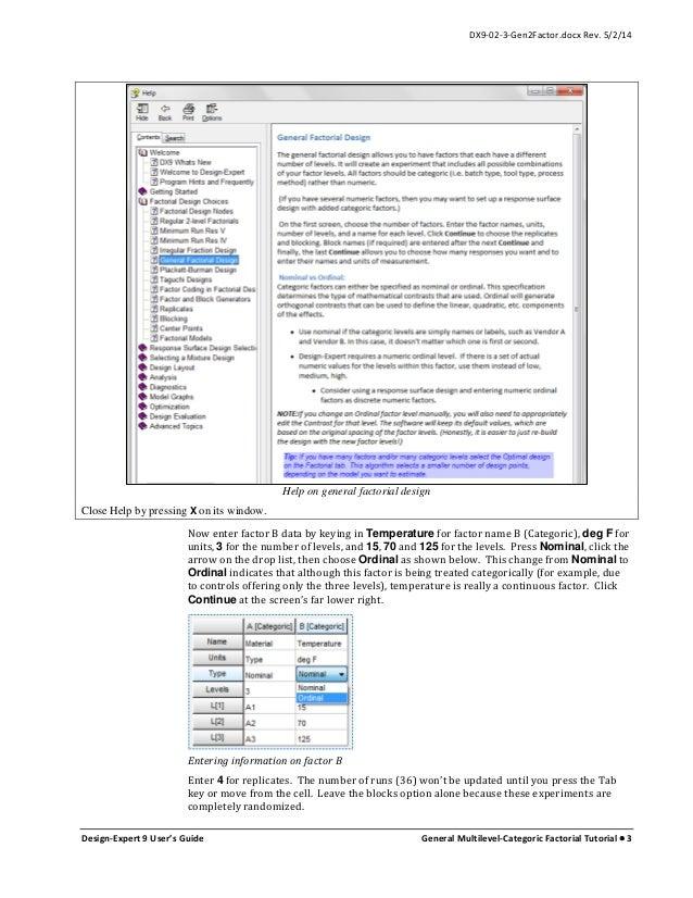 X Factorial Design Analysis Software