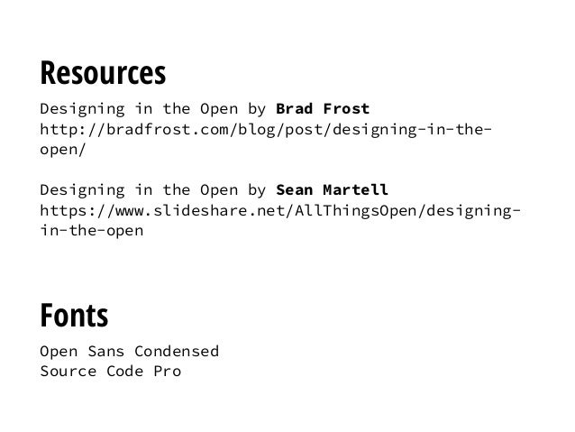 Designing in the Open