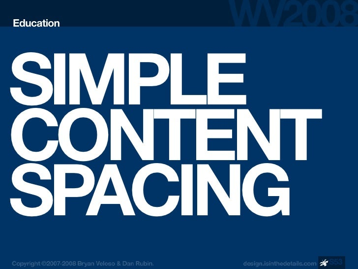 Education     SIMPLE CONTENT SPACING             S53