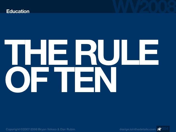 Education     THE RULE OF TEN             S54