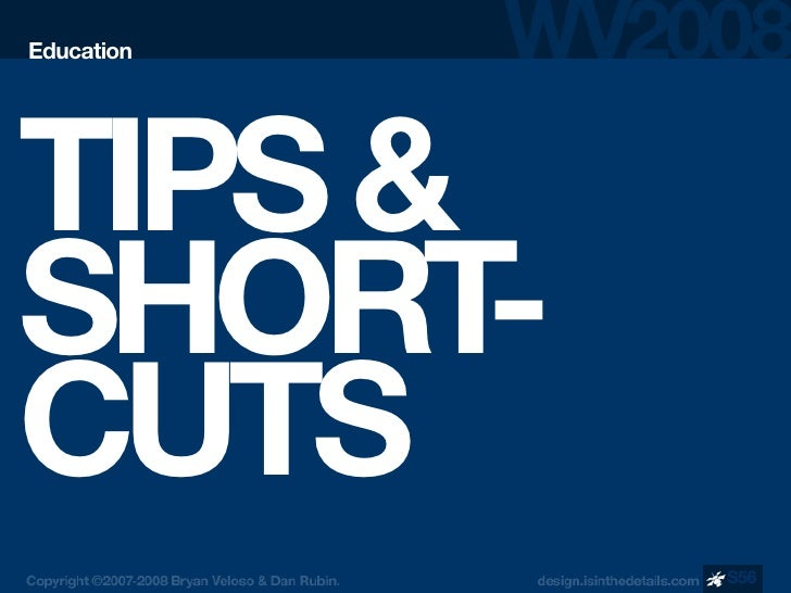 Education     TIPS & SHORT  - CUTS             S56