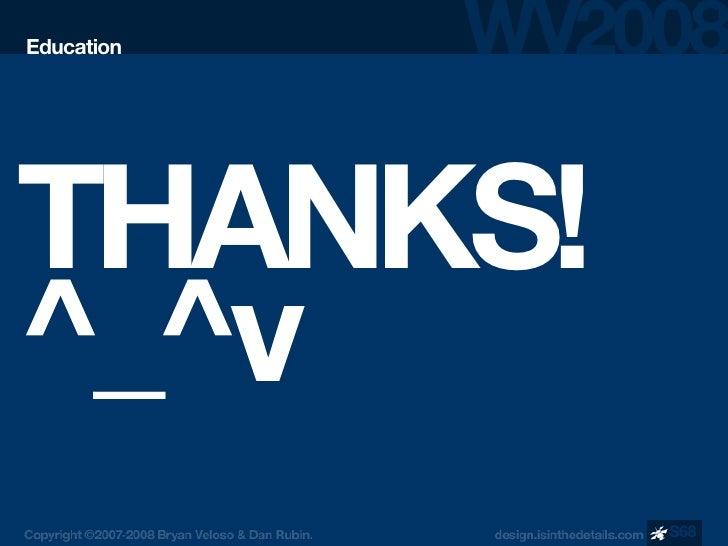 Education     THANKS! ^_^v             S68