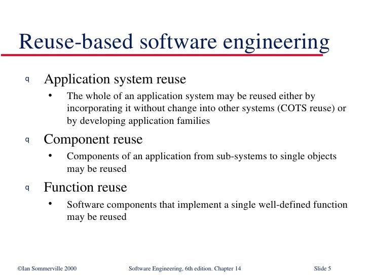 Design Issue Reuse In Software Engineering Se14