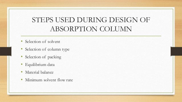 Design Of Absorption Column