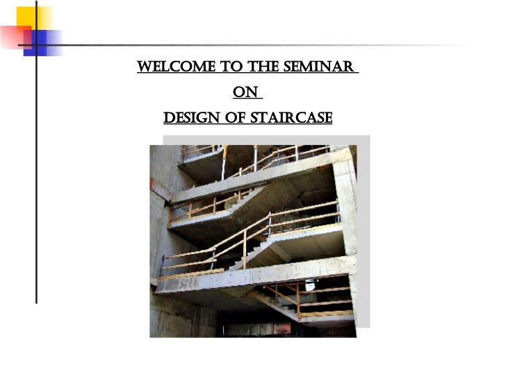 Design of staircase for Rcc home show